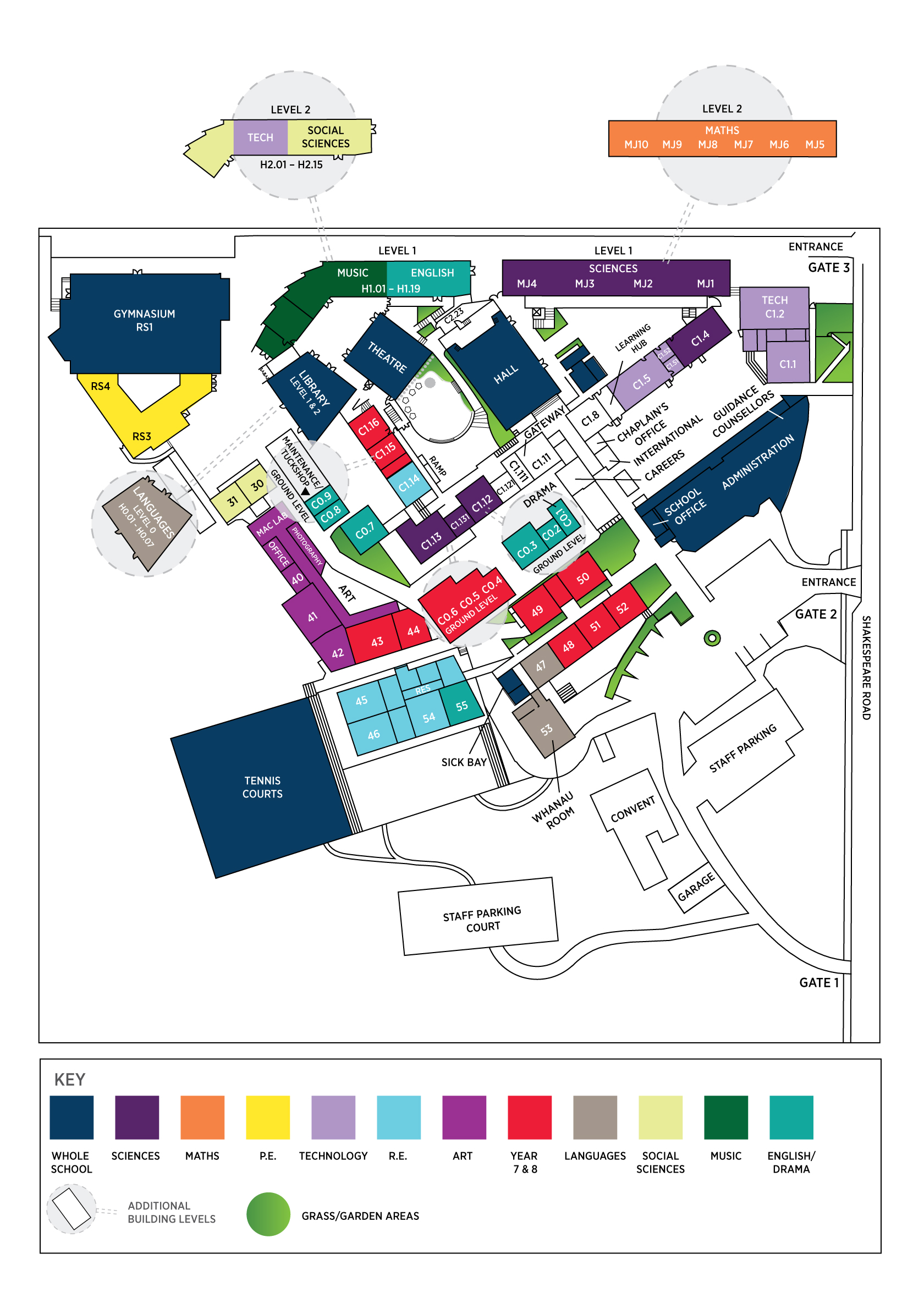 College Map - Carmel College on