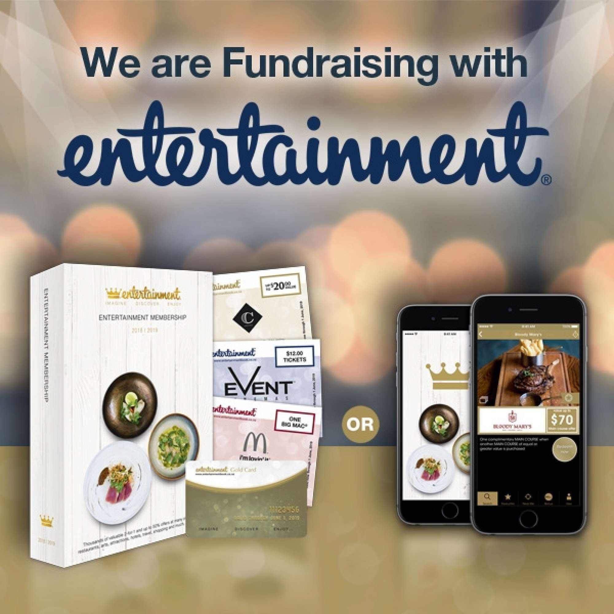 Help Us Fundraise With Entertainment – 20% of your purchase comes directly to the school