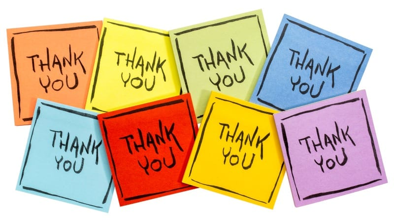 Thank You For Your Fundraising Efforts