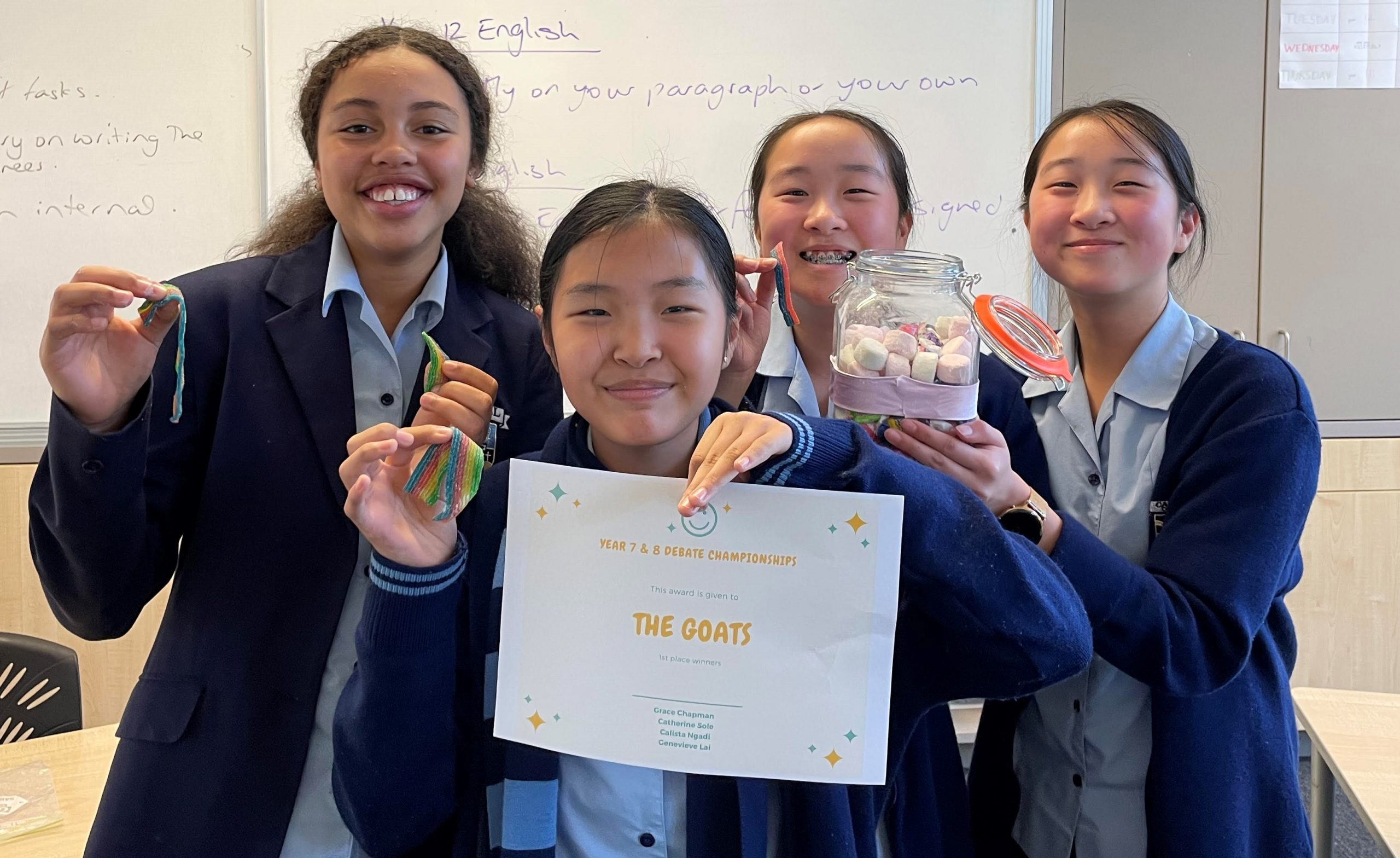 Year 7&8 Debating Competition Success
